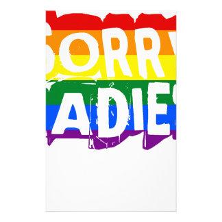 残念な女性LGBTゲイプライド 便箋