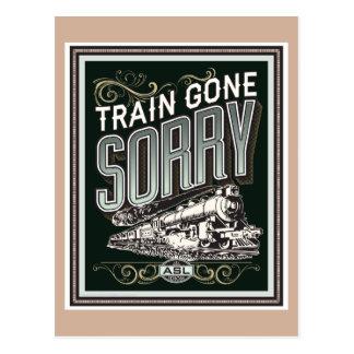 残念に行く列車。 郵便はがき ポストカード