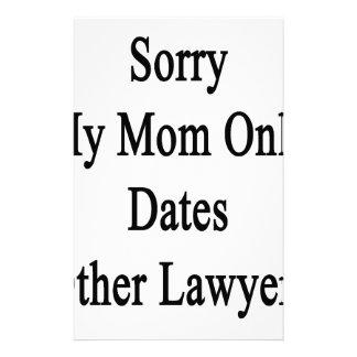 残念私のお母さんは他の弁護士だけに日付を記入します 便箋