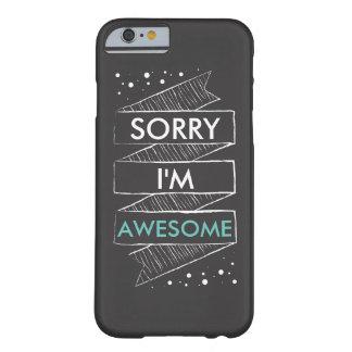 残念私はおもしろいな素晴らしい黒板です BARELY THERE iPhone 6 ケース