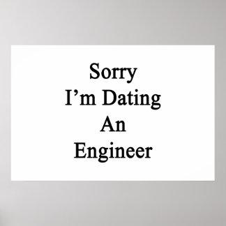 残念私はエンジニアに日付を記入しています ポスター