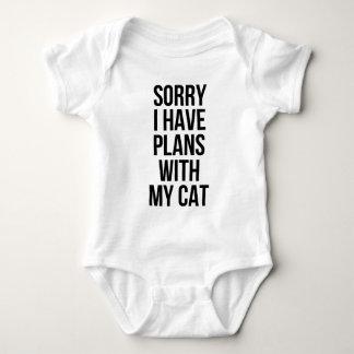 残念私は私の猫との計画を有します ベビーボディスーツ