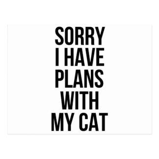 残念私は私の猫との計画を有します ポストカード