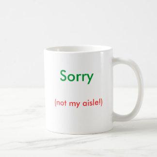 残念、(ない私の通路!) コーヒーマグカップ
