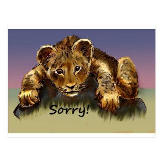 残念! ライオンの子 ポストカード