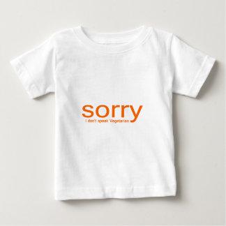 残念、私はベジタリアンを話しません ベビーTシャツ