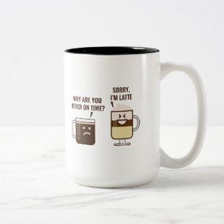 残念、私はラテです ツートーンマグカップ
