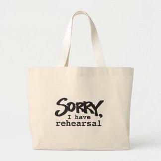 残念、私はリハーサルを有します ラージトートバッグ