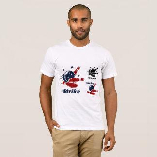 殴打10 PinのボーリングメンズTシャツ Tシャツ