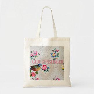 殺し屋の鳥との悪賢い戦闘状況表示板のヴィンテージの花柄をつけて下さい トートバッグ