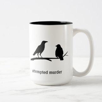 殺人未遂のマグ ツートーンマグカップ