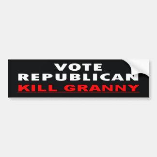 殺害のおばあさん-投票共和党員 バンパーステッカー