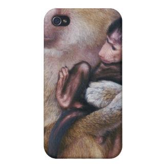 母およびベビーのヒヒ iPhone 4/4Sケース