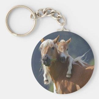 母およびベビーの馬 キーホルダー