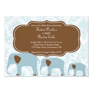 母およびベビー象の招待状 12.7 X 17.8 インビテーションカード