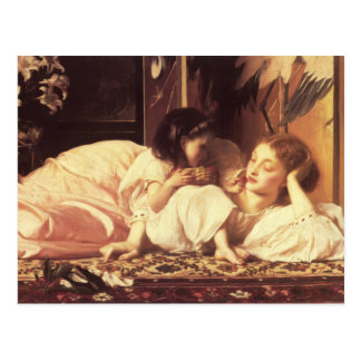 母および児童の主Frederick Leighton ポストカード