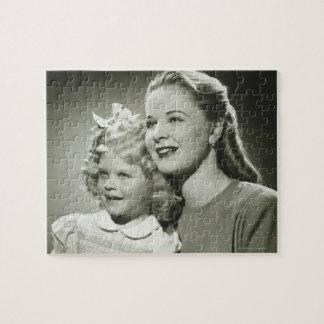 母および娘 ジグソーパズル