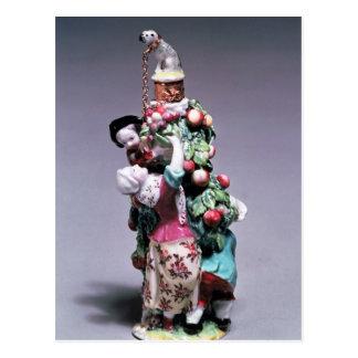 母および子供を描写するチェルシーのボトル ポストカード