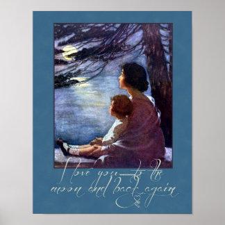 母および子供愛 ポスター