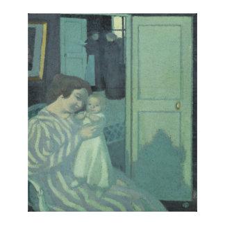 母および子供 キャンバスプリント
