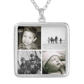 母の子供の写真のコラージュのネックレス シルバープレートネックレス