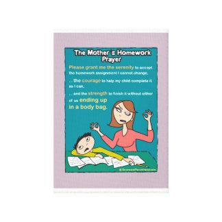 母の宿題の祈りの言葉のキャンバス(lavendar) キャンバスプリント