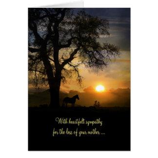 母の悔やみや弔慰カード損失、お母さんのための哀悼の言葉 カード