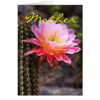 母の日およびピンクのサボテン カード