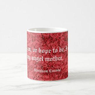 母の日のばら色のエイブラハム・リンカーンの引用文のマグ コーヒーマグカップ