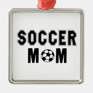 母の日のギフトのアイディアのサッカーのお母さんのロゴ メタルオーナメント