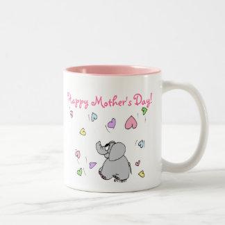母の日のギフトのマグ ツートーンマグカップ
