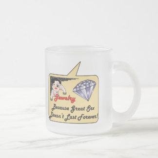 母の日のギフト フロストグラスマグカップ