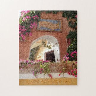母の日のパズル! 美しいギリシャの花柄 ジグソーパズル