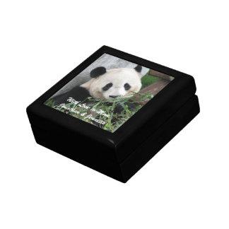 母の日の名前入りなパンダのギフト用の箱 ギフトボックス