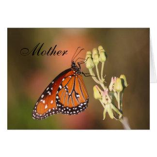 母の日の女王の蝶 カード