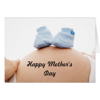 母の日の妊婦の男の赤ちゃん カード
