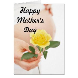 母の日の妊婦Yelliow カード