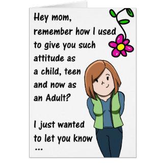 母の日の態度カード カード