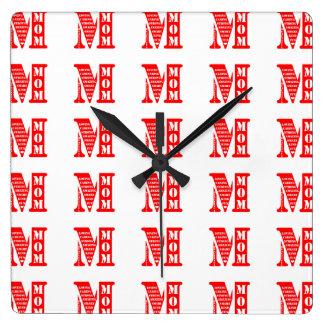 母の日の現在 スクエア壁時計