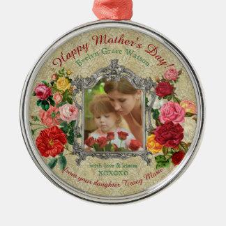母の日の甘いバラの空想のバロック式の写真フレーム メタルオーナメント