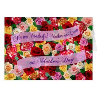 母の日の私のすばらしい義母のため カード