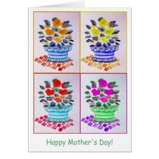 母の日の窓の花箱 カード