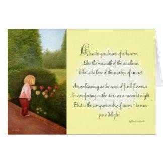母の日の詩 カード