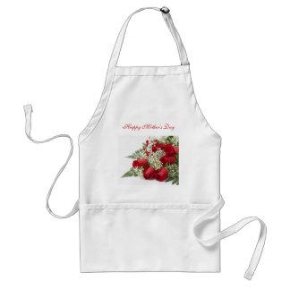 母の日の赤いバラのエプロン スタンダードエプロン