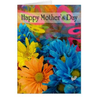 母の日の(多色刷りの)カード カード