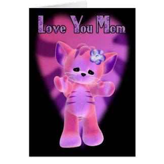 母の日は、お母さんのトラのつま先カード愛します カード