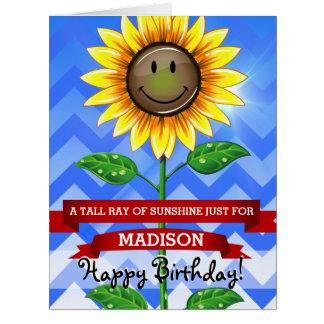 母の日または誕生日のヒマワリのカスタムで大きいカード ビッググリーティーングカード