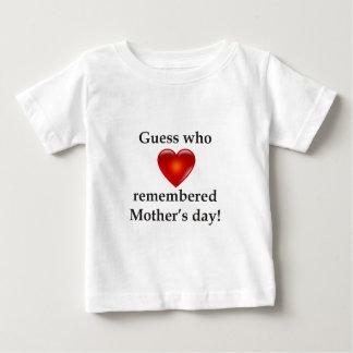 母の日を覚えていた推測 ベビーTシャツ