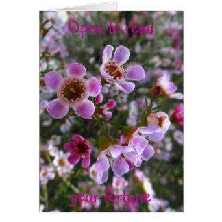 母の日カード-あなたの幸運を読んで下さい グリーティングカード