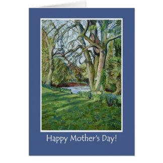 母の日カード-早い春の川岸 カード